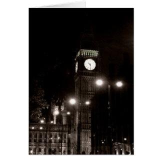 Londres par nuit cartes de vœux