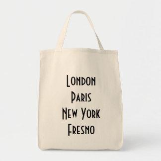 Londres Paris New York Fresno Sacs Fourre-tout