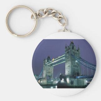 Londres - pont de tour porte-clé rond