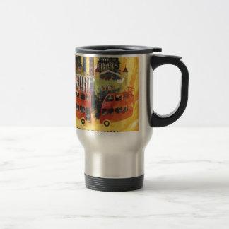 Londres vintage mug de voyage en acier inoxydable