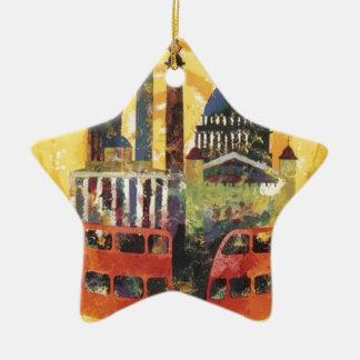 Londres vintage ornement étoile en céramique