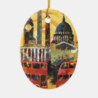 Londres vintage ornement ovale en céramique