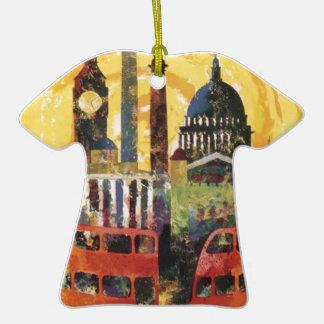 Londres vintage ornement t-shirt en céramique