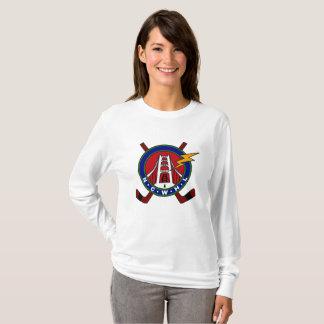 Long-Douille classique de T-shirt de logo