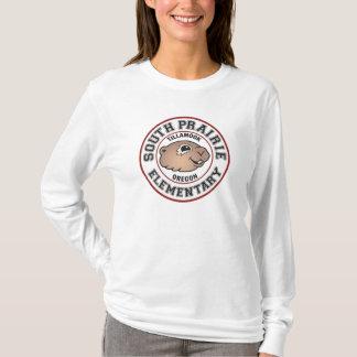 Long-Douille du sud T de logo de cercle de prairie T-shirt