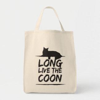 Long en direct The Coon ! Coon de Maine cendre Sacs De Toile