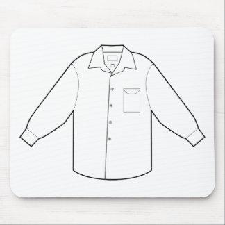 Long graphique de dessin de chemise de douille tapis de souris