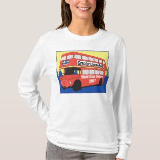 Long logo d'autobus de T-shirt de Sleve de dames