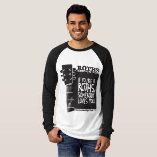 Long raglan de la douille des hommes t-shirt
