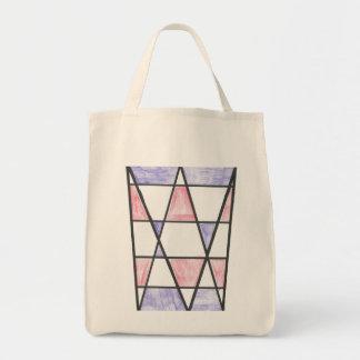 Long sac de motif de diamant