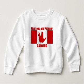 Long sweatshirt vivant d'ouatine d'enfant en bas