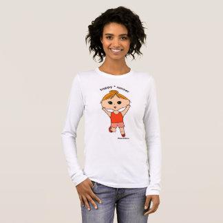 Long T-shirt #3 de la douille des femmes heureuses