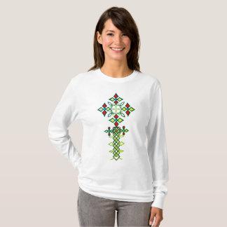 Long T-shirt croisé éthiopien de douille