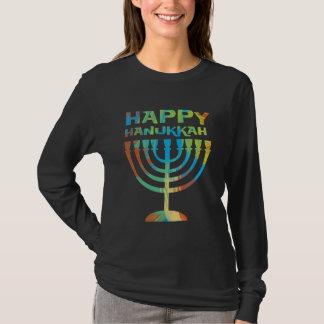 Long T-shirt de douille de dames heureuses de