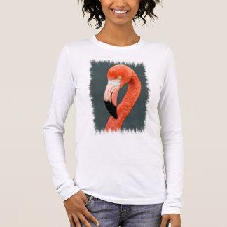 Long T-shirt de douille de flamant brillant