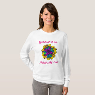 Long T-shirt de douille de flower power