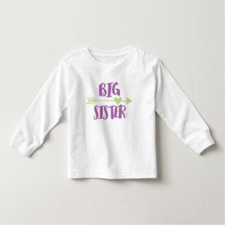 Long T-shirt de douille de grande soeur
