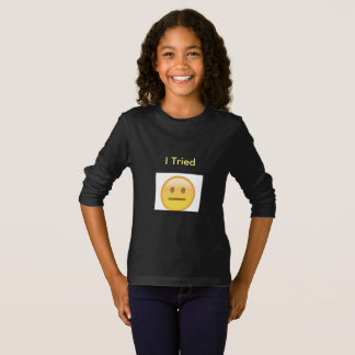 Long T-shirt de douille de la jeunesse