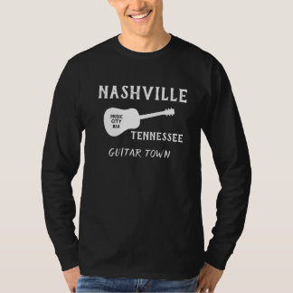 Long T-shirt de douille de Nashville Tennessee