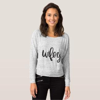 Long T-shirt de douille de Wifey  