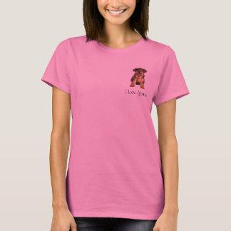 Long T-shirt de douille de Yorkshire Terrier