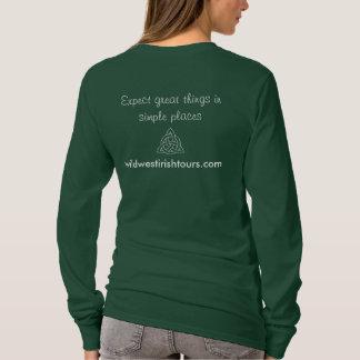 Long T-shirt de la douille des femmes