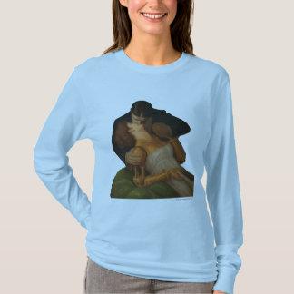 Long T-shirt de la douille des femmes androïdes de