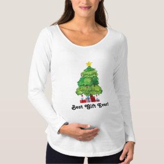 Long T-shirt de maternité de douille