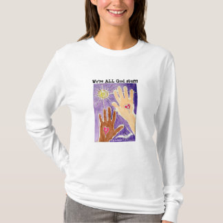 Long T-shirt de substance de Dieu de douille