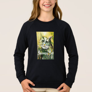 "Long T-shirt d'enfants ""de chat grincheux"""