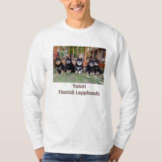 Long T-shirt gainé avec 5 noirs/chiens bronzages