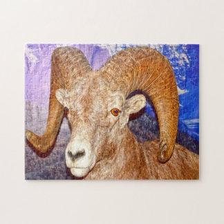 Longs moutons canadiens de klaxon puzzle