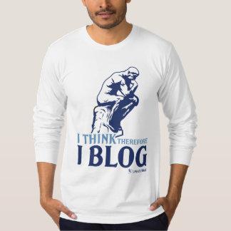 Longs t de douille (je pense, par conséquent je le t-shirt