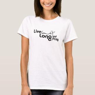 Longs vivants de teckel et prient le T-shirt