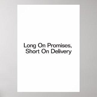 Longtemps sur des promesses short sur la posters