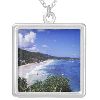 Longue baie, port Antonio, Jamaïque Pendentif Carré