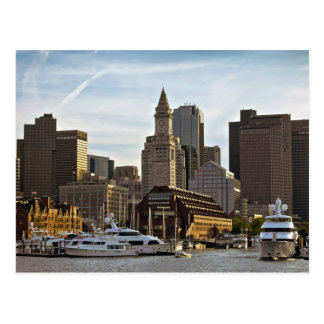 Longue carte postale de quai de Boston