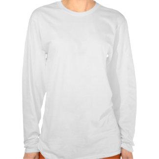 Longue chemise de douille de flamme de dames t-shirts
