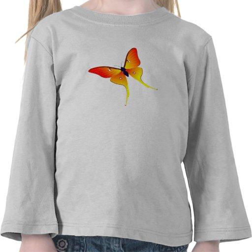 Longue chemise de douille de flamme d'enfant en t-shirt