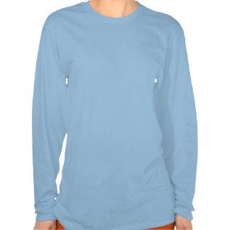longue chemise de douille de naissance paisible t-shirts