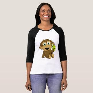 Longue chemise de douille de singe t-shirt