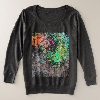 Longue chemise de la douille des femmes abstraites