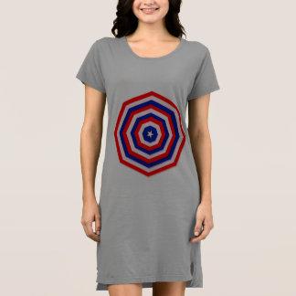 Longue chemise de Web patriotique Robe