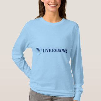 Longue douille de dames (logo horizontal) t-shirt