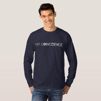 Longue douille de logo blanc t-shirt