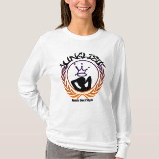 Longue douille de style grossier de Gurl T-shirt