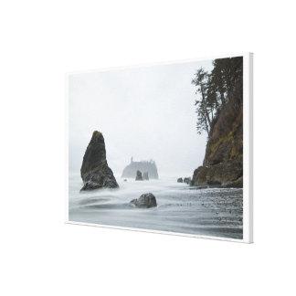Longue exposition de mouvement de vague à la plage toiles