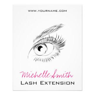 Longue extension de mèche de mèches de beaux yeux prospectus 11,4 cm x 14,2 cm