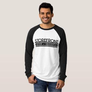 Longue pièce en t de base-ball de la douille des t-shirt