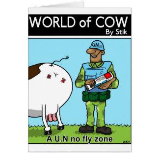 L'ONU aucune zone de mouche Carte De Vœux